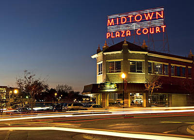 Midtown Plaza Poster by Ricky Barnard