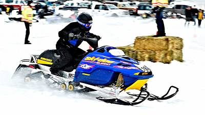 Midway Snow Drags - 24 Poster by Don Mann