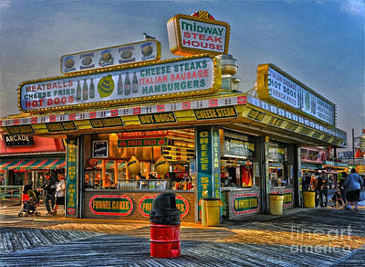 Poster featuring the photograph Midway Steak House by Debra Fedchin