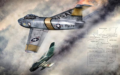Mig Alley Poster by Peter Chilelli