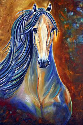 Poster featuring the painting Mighty Mare Horse by Jennifer Godshalk