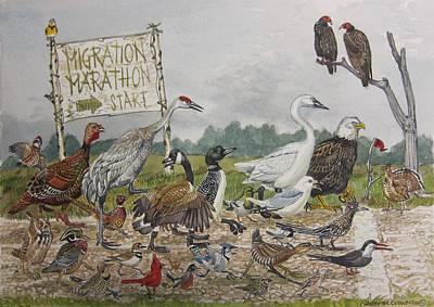 Migration Marathon Poster by Christopher  Cudworth