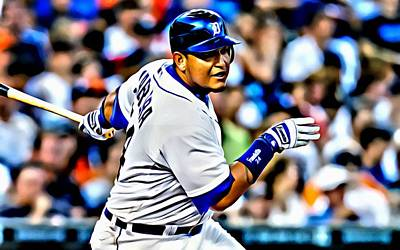 Miguel Cabrera Painting Poster