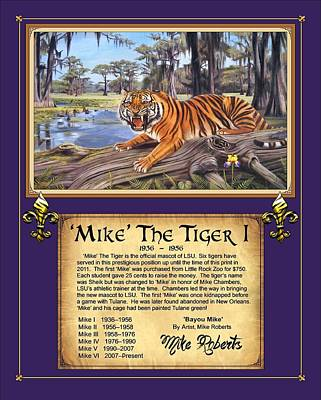 Mike The Tiger I Poster by Mike Roberts