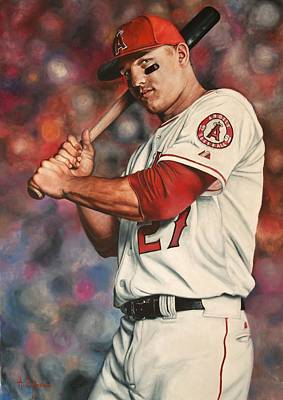Mike Trout Poster by Agustin Iglesias