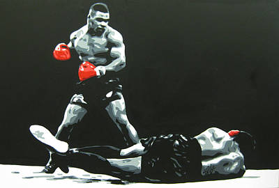 Mike Tyson 5 Poster by Geo Thomson