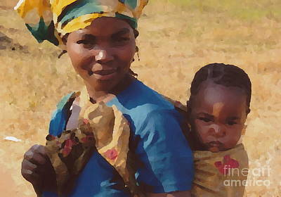 Milawi Mother And Child Poster