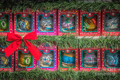 Mile Marker 0 Christmas Decorations Key West 4 - Hdr Style Poster