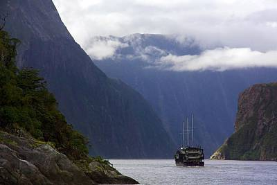 Poster featuring the photograph Milford Sound by Stuart Litoff