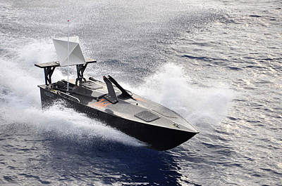 Military Boat Drone Poster