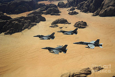 Military Planes Flying Over The Wadi Poster