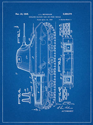 Military Tank Patent Poster