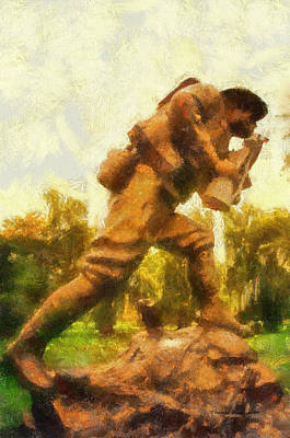 Military Ww I Doughboy 01 Photo Art Poster by Thomas Woolworth