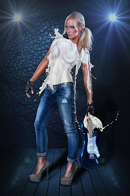 Milk Dress - Rockstar Girl Lights Poster