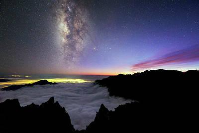 Milky Way Above La Palma Poster