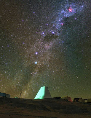 Milky Way And Observatory Poster