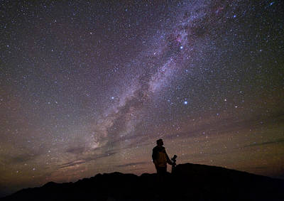 Milky Way And Photographer Poster
