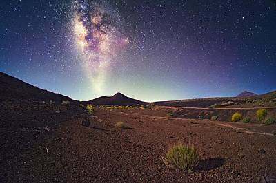 Milky Way And Tenerife Volcanoes Poster by Juan Carlos Casado (starryearth.com)