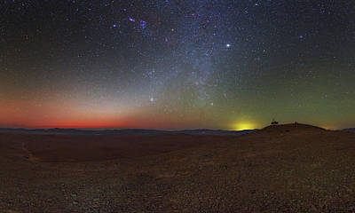 Milky Way And Zodiacal Light At Dusk Poster