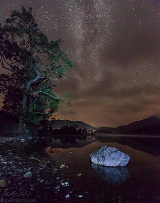 Milky Way At Gwenant Poster