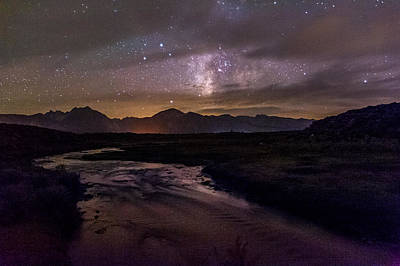 Milky Way At Hot Creek Poster