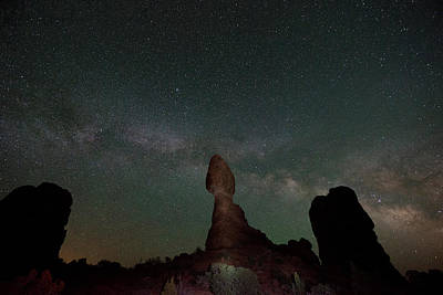 Milky Way Night Poster by Jeff Lewis