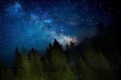Milky Way On The Mountain Poster
