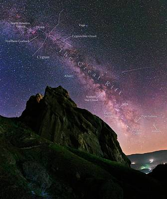 Milky Way Over Alamut Poster