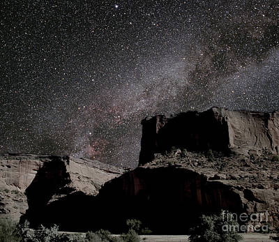 Milky Way Over Canyon Poster