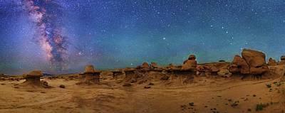 Milky Way Over Goblin Valley Poster