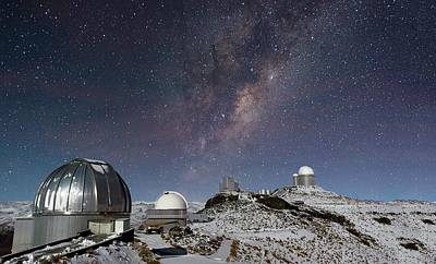 Milky Way Over La Silla Observatory Poster
