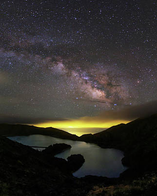 Milky Way Over Lagoa Do Fogo Poster by Babak Tafreshi