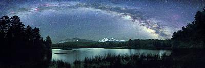 Milky Way Over Manzanita Lake Poster by Walter Pacholka, Astropics