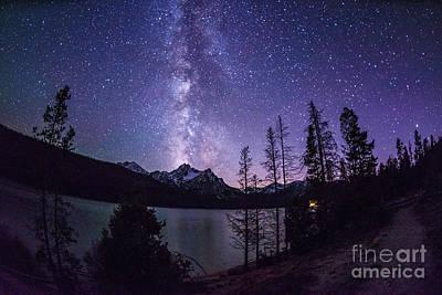 Milky Way Over Mc Gowan Peak At Stanley Lake Idaho Poster by Vishwanath Bhat