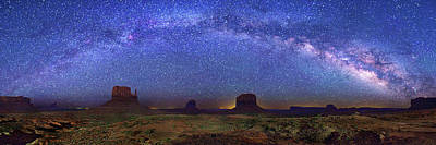 Milky Way Over Monument Valley Poster