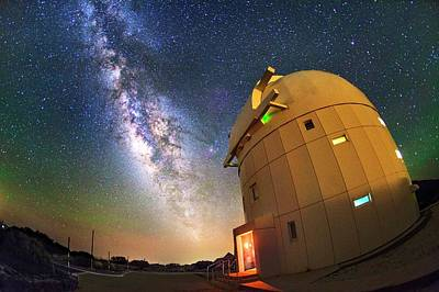 Milky Way Over Tenerife Telescope Poster