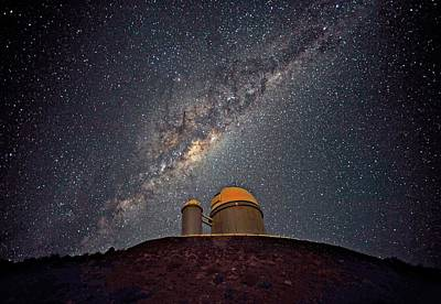 Milky Way Over The Eso Telescope Poster by Eso/s. Brunier