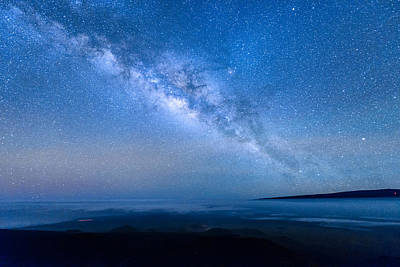 Milky Way Suspended Above Mauna Loa 1 Poster