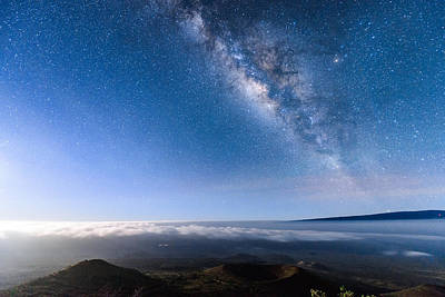 Milky Way Suspended Above Mauna Loa 2 Poster