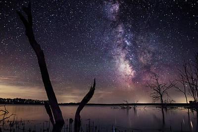 Milky Way Tree Poster by Aaron J Groen