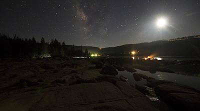 Milky-way Over Plasse's Resort - Silver Lake Poster