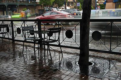 Mill Avenue Rain In Tempe Arizona Poster by Dave Dilli