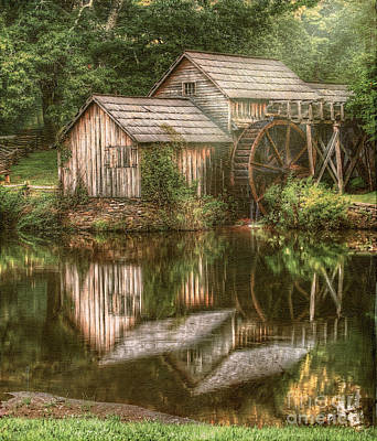 Mill On The Blue Ridge  Poster by Darren Fisher