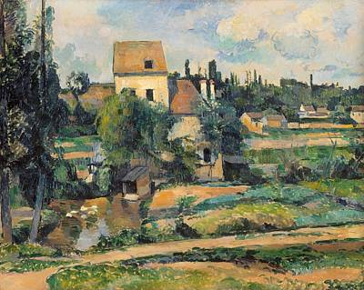 Mill On The Couleuvre At Pontoise Poster by Paul Cezanne