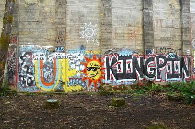 Mill Pond Graffiti Poster by Jeri lyn Chevalier