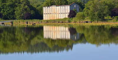Mill Pond Ruins Poster by Jeri lyn Chevalier