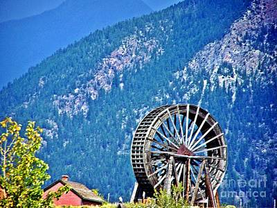 Mill Wheel In The Mountains Poster