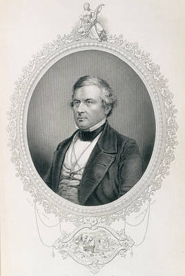 Millard Fillmore, From The History Of The United States, Vol.ii, By Charles Mackay, Engraved Poster by Mathew Brady