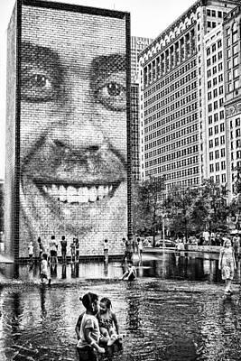 Millenium Park Smile Poster by Robert  FERD Frank