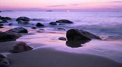 Millennium Sunrise Singing Beach Poster by Michael Hubley